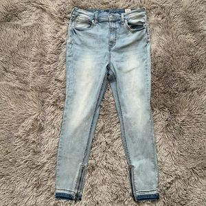 Free People High Waisted Skinny Ankle Zip Jeans